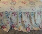 vintage bark cloth cover, scrap