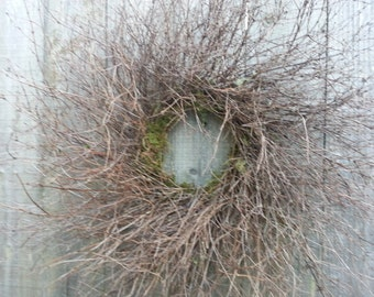 natural wispy twig wreath
