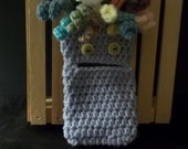 Smartphone Cozy - Hairy Monster - Lavender