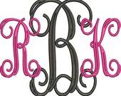 Vine Monograms Embroidery Machine Alphabet Font Set 10820 Instant Download Includes BX Formats