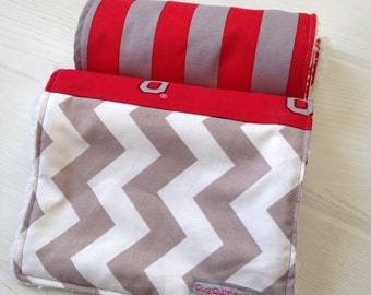 Ohio State Burp Cloths - set of 2 - with soft cuddle backing by Rugrat Design