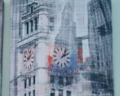 Wrigley Building - Chicago Photography Collage Print on Canvas