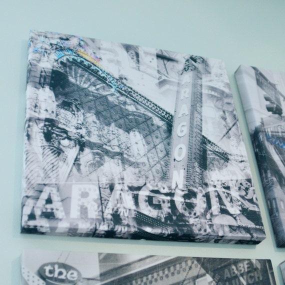 Aragon Ballroom - Chicago Photography Collage Print on Canvas