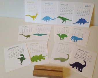 2017 Desk Calendar, Dinosaurs, Dinosaur Calendar, Standing Dinosaur Calendar