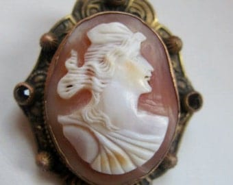 Art Nouveau Cameo Carved Shell of Psyche