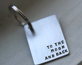 To The Moon & Back - Custom Keychain. Perfect for Valentine's, Anniversary, Engagement, Wedding
