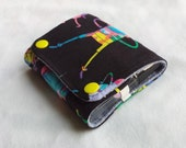 Mini Compact Roller Bottle Case for 5ml and 10 ml size bottles - Essential Oils Case - Wallet - Travel Bag - Adventure Time Print