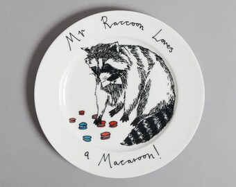 Mr Raccoon loves a Macaroon side plate
