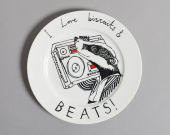 Biscuits and Beats side plate