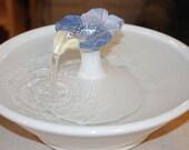 "Ceramic Cat Fountain, Pet Fountain, Foodsafe -  ""Petunia"" - 12 Inch Diameter"