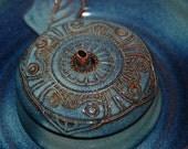 "Cat Drinking Fountain, Pet Fountain, indoor fountain - Food safe, Ceramic - 9 Inch Diameter - ""Azteca"""
