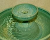 """Ceramic Cat Fountain / Indoor Fountain, Ceramic, Foodsafe  - 11.25 Inch Diameter -  """"Caribbean Piazza"""""""