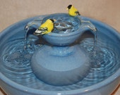 "RESERVED for ANDREW T. Cat Water Fountain - Cat fountain - Pet Drinking Fountain - 11.25 Inch Diameter - ""Goldfinch Piazza"""