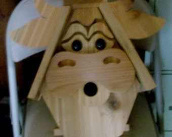 Funky Cow Bird House