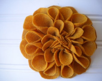 Felt Brooch in Mustard