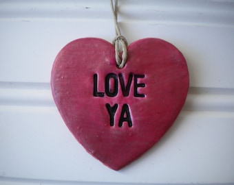 Love Ya Heart Ornament