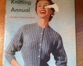 1952 Knitting Annual 56 knitwear designs very cool old pattern book