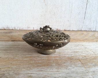 Vintage Brass Trinket Dish