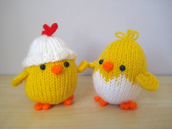 Eggy Chicks toy knitting patterns