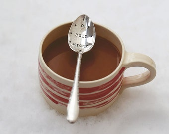 Oh Holy Night - Hand Stamped Spoon