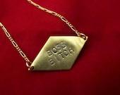 BOSS BITCH - Custom Engraved Necklace