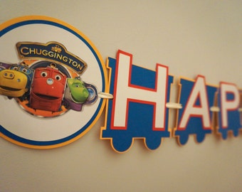 Chuggington Birthday Banner - MADE TO ORDER