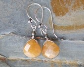 Orange Stone Earrings, Natural Stone Earrings, Aventurine Earrings, Teardrop Earrings, Tangerine Earrings, Handmade Earrings, Spring Earring