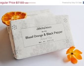 Blood Orange and Black Pepper Soap-Olive and Hemp Oil-Cold Process