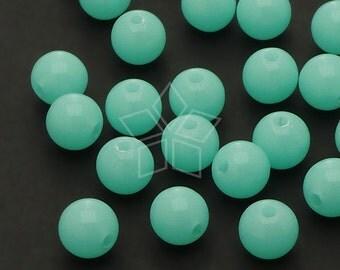 AR-022-BL / 50 Pcs - Luminous Beads, Glow in the Dark Round Bead, BLUE Round / 8mm