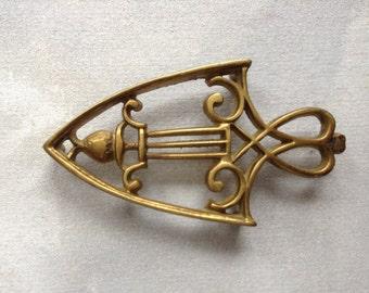 Vintage Decorative Brass Mid Century Trivet