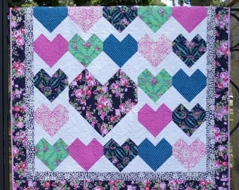 Love Letters PDF Quilt pattern (Beauty Queen Version) - Immediate Download