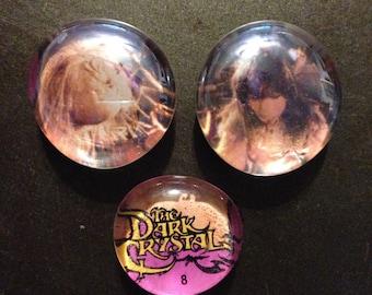 Three Dark Crystal magnets, Jen, Podling, logo