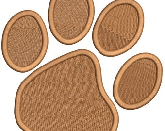 Paw Print Embroidery Design Download - 3 Sizes - Instant Download