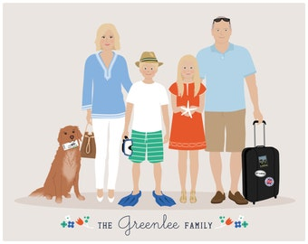 11 X 14 Size Upgrade for Custom Family Portrait