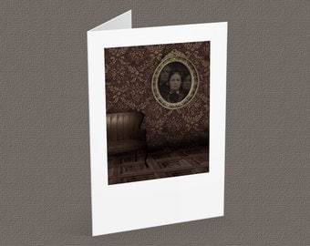 THE OTHERS blank note card A6, vintage portrait, gothic inspired, halloween card