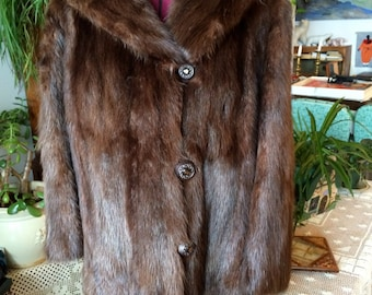 Cozy SALE 25% 0FF Woodwards 1940 natural beaver fur maxi coat Was 180.00 Now 155.00