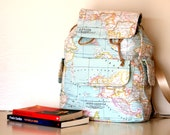 World map printed backpack,traveller, unisex,daily use,back to school,Valentines day