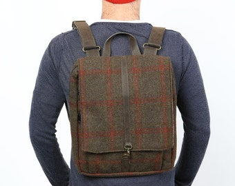 Tweed, padded,  Laptop Backpack, synthetic wool    - Roxanna Laptop Bag