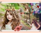 Woodland Fairy Crown - Woodland Tiara - Rosette Crown - Rosette Tiara - Fairy Crown Newborn Crown Photo Prop Tiara