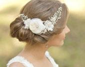 Wedding headpiece Bridal hair accessories Bridal hair vine Wedding hair comb Wedding hair accessories Floral hair comb Lace Bridal Hair Comb