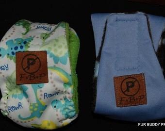 "Sample Sale Original Waterproof  ""NO-Pee"" BuddyBand Diaper for Boys...XS 3.5"" wide, fits 10 - 12"" waist."