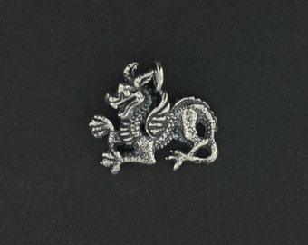 Renaissance Dragon Charm in Sterling Silver