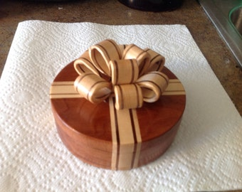 Jewelry Box with Wooden Bow