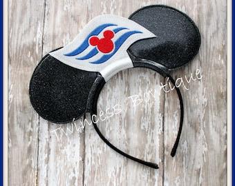 Cruise Logo Mouse Ears Headband  by Twincess Bowtique - CUSTOM