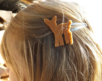 Fawn Barrettes, Fawn Hair clips, Deer hair clips, Woodland Barrettes, fawn jewelry woodland birthday woodland wedding, woodland party favors