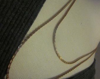 Vintage Double Strand Gold Tone SARAH COVENTRY Necklace