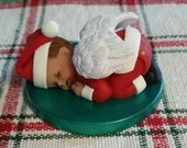Personalized Custom Made Memorial Santa Angel Baby Figurine