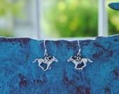 Horse Racing Jockey  Equestrian Earrings Sterling Silver