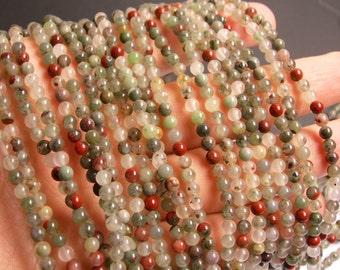 African bloodstone - 4mm round beads - full strand - 98 beads - Seftonite - RFG30