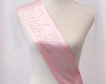 Light Pink Bride To Be- Bachelorette Sash - Hens Night